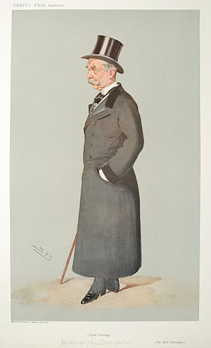 Caricature of Robert Wynn Carrington, Earl Car...