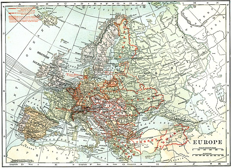 File:Map of Europe in 1920, after the Treaty of Versailles.jpg