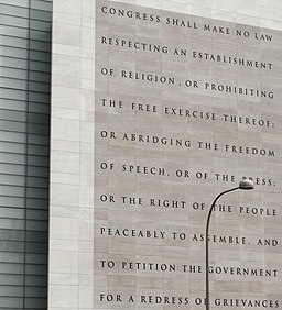 Newseum 5 Freedoms 1st Amendment