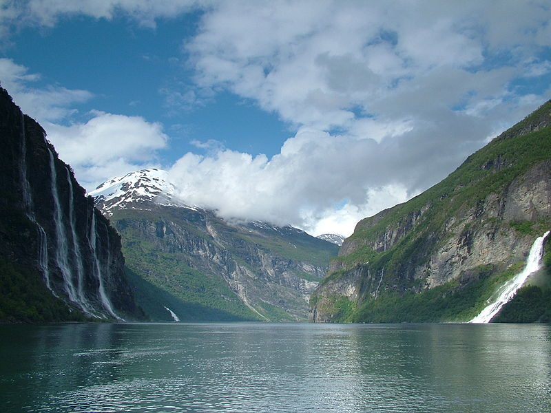 The Seven Sisters & the Wooer waterfalls in Geirangerfjord, Norway- Most surreal places to visit