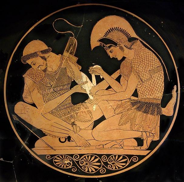 File: Berlin Antikensammlung Akhilleus F2278.jpg Patroklos
