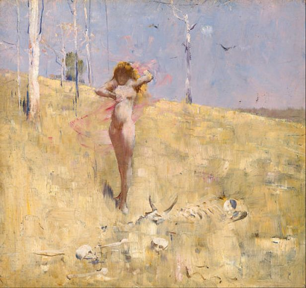 """""""The Spirit of the Drought"""" by Arthur Streeton"""