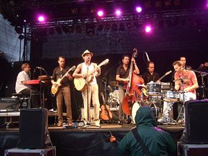 Bo Kaspers Orkester at the park festival in Bo...