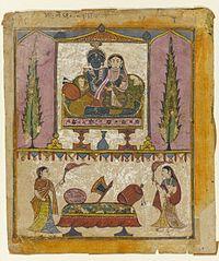 "Brooklyn Museum - Lakshmi Naryana Frontispiece from the ""Tula Ram"" Bhagavata Purana.jpg"