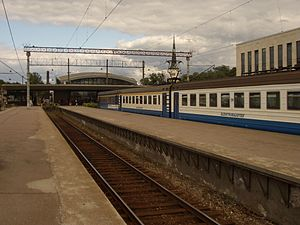 Elektriraudtee emu at baltia station