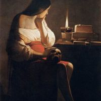 """Magdalene with the Smoking Flame"" by Georges de La Tour"