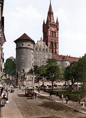 Königsberg Castle tower and Emperor William's ...