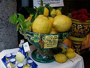 Lemons were as big as footballs. And twice we ...