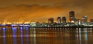 Long Beach, California at night