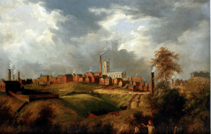 "A painting of Oldham, in England titled ""..."