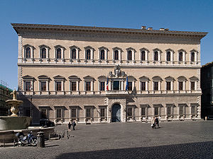 English: Palazzo Farnese in Rome (16th century...