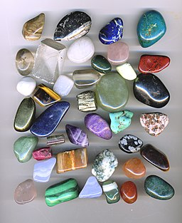 Tumbled gemstone pebbles arp