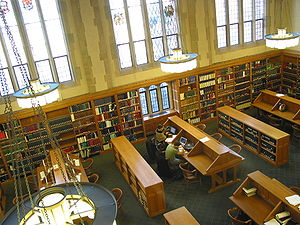 English: Yale Law School Library Reading Room ...