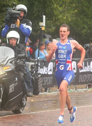 English: Alistair Brownlee wins the Hyde Park ...