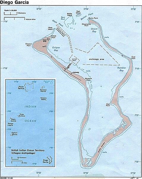 Diego Garcia, map