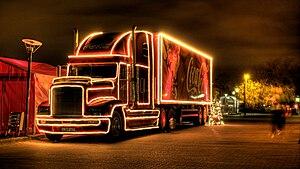 English: Coke christmas advertising campaign t...