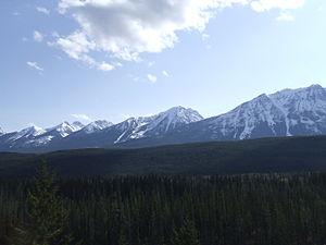Columbia Mountains as seen from the Rocky Moun...