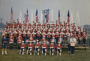 Group photograph of The Grenadiers Junior Drum...