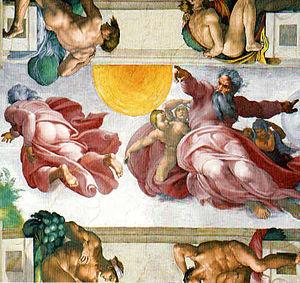 God's Creation- God creating the Sun, Moon and...