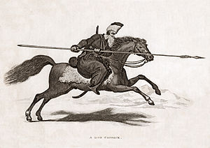 English: Aquatint print of a Don Cossack.