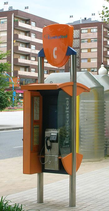 Description: Euskaltel phone booth