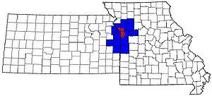 The 15-county Kansas City Metropolitan Area, w...