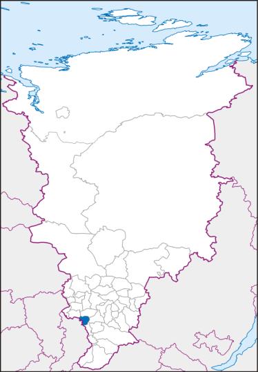 Новосёловский район на карте