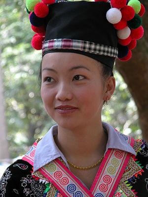 laos luang prabang, jeune fille lors d'une fet...