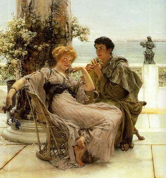 Risultati immagini per due innamorati alma tadema