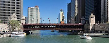 Michigan Avenue Bridge across the Chicago Rive...