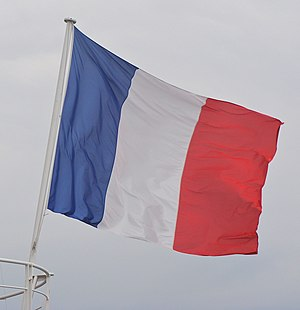 The french flag of the former Meteorological f...