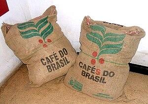 Bags of coffee in São Paulo
