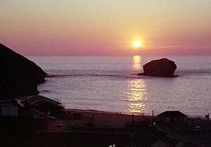 English: Sunset at Portreath