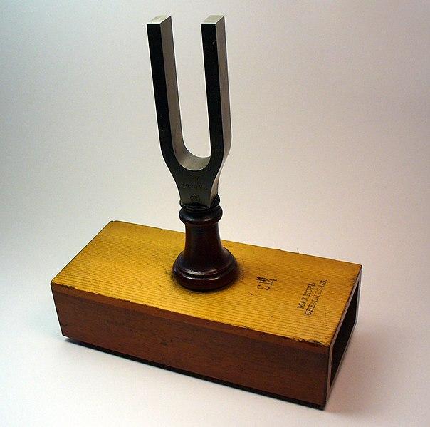 File:Tuning fork on resonator.jpg