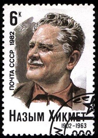 USSR stamp N.Hikmet 1982 6k.jpg