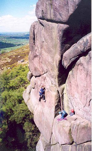 "Climbers on ""Valkyrie"" at The Roache..."