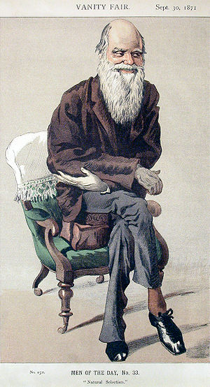 English: Caricature of Charles Darwin from Van...