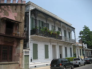Residential section of Bourbon Street, Faubour...