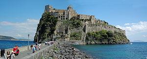 Castello Aragonese von Ischia, links Vesuvio, ...