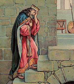 English: David's Grief Over Absolom; as in 2 S...