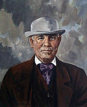 English: Painting of David Fife, the developer...