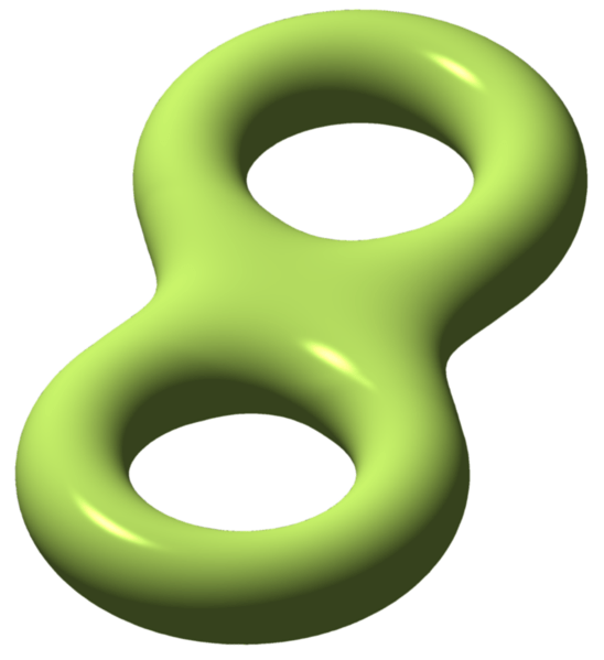 Genus 2 closed surface (double torus)