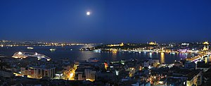 View of the Golden Horn and Bosphorus (backgro...