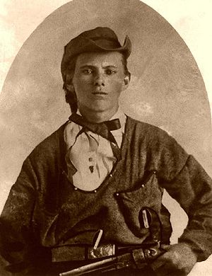 Jesse James, famous American outlaw.
