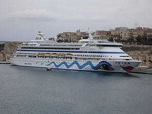 AIDA in Malta IMO: 9221566 MMSI: 247117400 Cal...