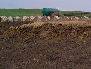 English: Manure rotting facility The ultimate ...