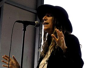 Patti Smith performing at Lollapalooza festiva...