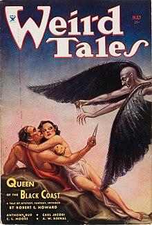Weird Tales magazine cover from 1934