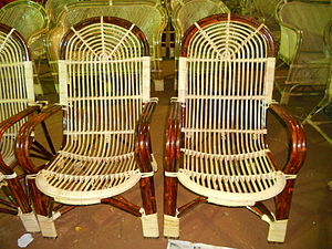 English: Bamboo cane furniture