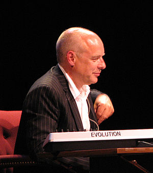 Photograph of Brian Eno at a 2006 Long Now Fou...